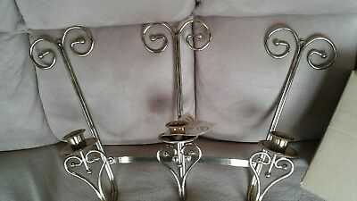 vintage home interiors candle sconce holder with wrought iron style