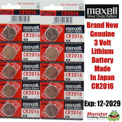 10 PCS x CR2016 3V LITHIUM BUTTON COIN BATTERY MADE IN JAPAN BEST BEFORE:12/2028