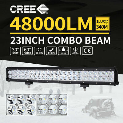 240w 23inch Cree LED Light Bar Flood Spot Combo Offroad Driving 4WD Lamp 4x4