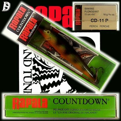 Vintage Rapala Countdown 11cm P alte Produktion aus Irland, New in Box