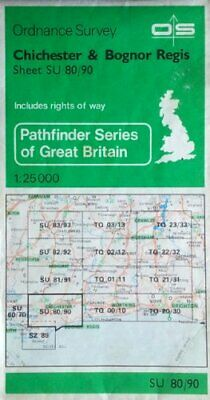 Pathfinder Maps: Chichester and Bognor R... by Ordnance Survey Sheet map, folded