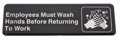"""""""Employees Must Wash Hands Before Returning To Work"""" Business Retail Sign NEW"""
