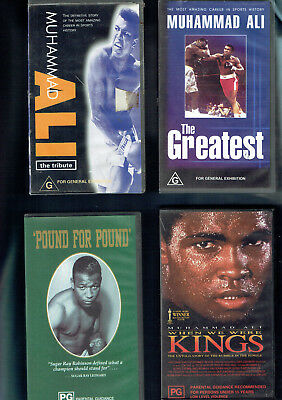 #gg #1.  Eight(8)  Boxing  Vhs Video Tapes