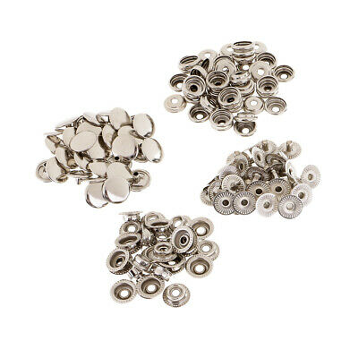 30 Sets Metal Snap Fasteners Popper Press Stud Button for Leather Clothes Jacket