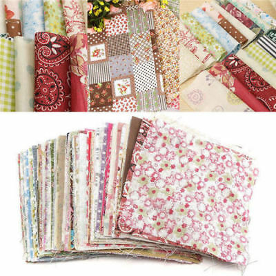 100pcs 10x10cm Square Crafts Fabric Floral Cotton Sewing Craft Diy Patchwork ~