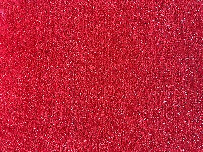 Red Sparkly Carpet Cheap Glitter Sparkle Soft Twist Pile hessian back Bedroom