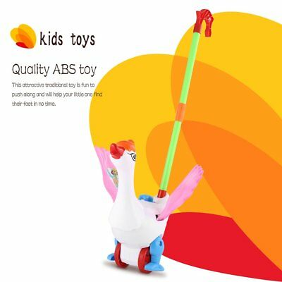 Hand Push Animal Toy Goose Shape Cartoon Cart Toys Baby/Toddler/Child Walking HX