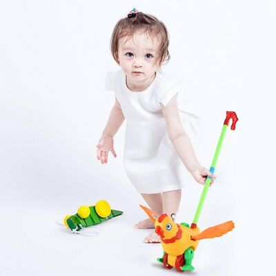 Hand Push Animal Toy Hen Shaped Cartoon Cart Toys Baby/Toddler/Child WalkingHX