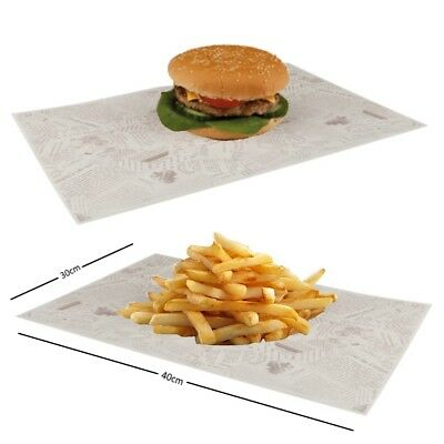 Newspaper Print Design Greaseproof Paper Wrap Liner - Fish Chip Shop Take Away