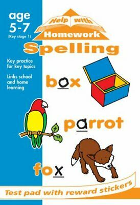 Spelling (Help With Homework Test Pads) Paperback Book The Fast Free Shipping