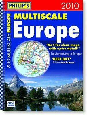 Philip's Multiscale Europe 2010: Spiral A3 (Road Atlases) Spiral bound Book The