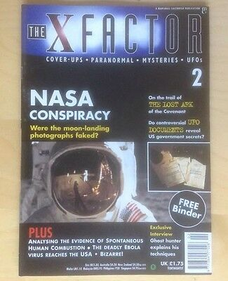 THE X FACTOR No. 2 1997 PARANORMAL COVER-UPS UFOS MYSTERIES NASA CONSPIRACY VGC