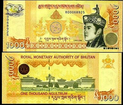Bhutan - 1000 Ngultrum - UNC  currency note - 2008 series