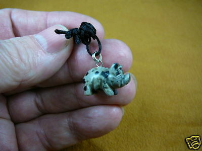 (an-pig-5) PIG piggy SPOTTED gem carving Pendant NECKLACE FIGURINE