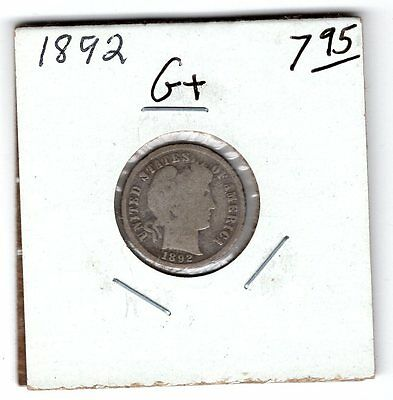 3 Coin Set 1892 Barber Dime Quarter And Half. All first Year Of Issue Coins!