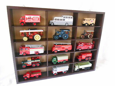 Freestanding Or Wallmount Oxford Diecast Commercial Vehicle Wooden Display Unit