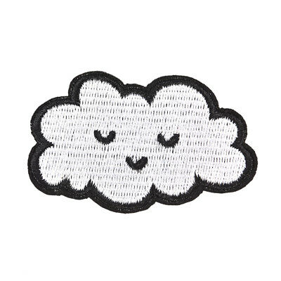 Cloud patches for clothing iron on embroidered sew applique cute DIY accessory D