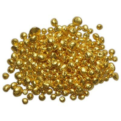1 gram 24K .9999+ Refined Pure Gold Grain Shot Casting Round Bullion