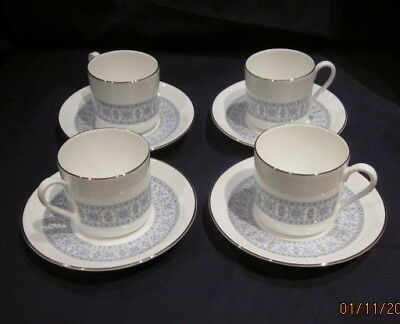 Royal Doulton Counterpoint H5025 4 X Coffee Cups And Saucers Vgc