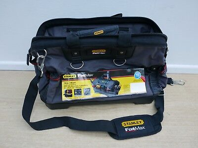 "Offer Stanley Fatmax 18"" Hard Base Technician Tool Bag Holdall 193950 1 93 950"