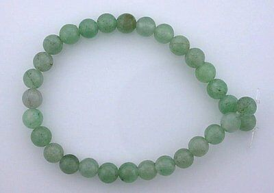 6mm Round Gemstone Gem Stone Green Aventurine Beads 7 Inch Strand