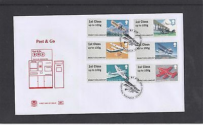 GB 2017 Post & Go Mail by Air Stuart FDC Airport Way Birmingham pictorial pk