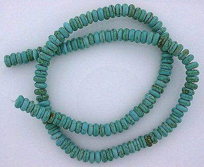 6x3 6mm x 3mm Rondelle Gem Stone Synthetic Turquoise Beads 15 Inch Strand