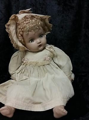 Vintage Madame Alexander Little Genius Composition And Cloth Baby Doll
