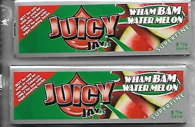Juicy Jay's 1 1/4 Ultra Thin Cigarette Rolling Papers Wham Bam Watermelon