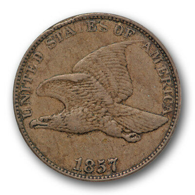 1857 Cent Flying Eagle Extra Fine XF Original US Type Coin #331