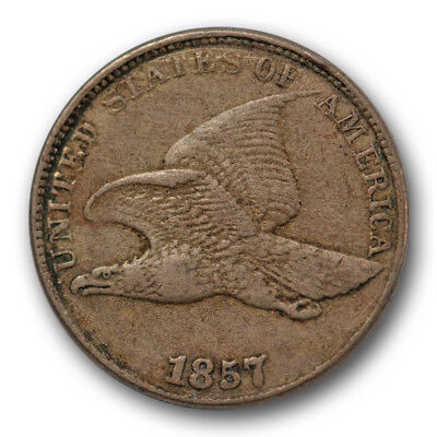 1857 Flying Eagle Cent Very / Extra Fine #3387