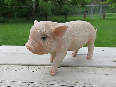 BABY PIG 9 in.standing animal farm piglet oinker resin figurine statue new