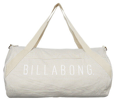 Brand New + Tag Billabong Vacay Overnight Travel Luggage Weekender Bag Taupe
