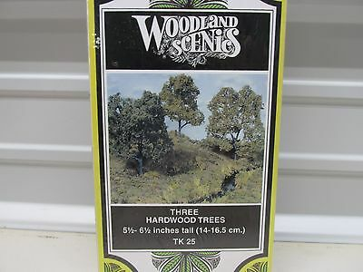 Woodland Scenics Tk 25~ Three Hardwood Trees-51/2-61/2 Tall~ Lot C  ~Ho Scale