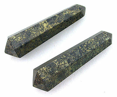 TWO Natural 1 Inch Natural Marcasite Double Point Crystal Gemstone Gem EBS7425