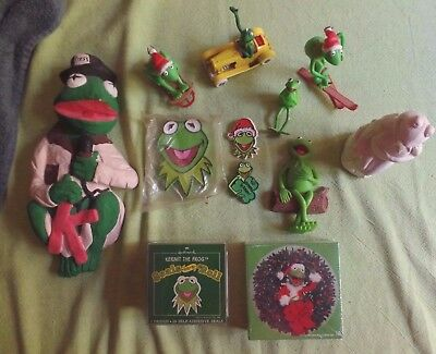 Kermit The Frog Lot Puzzle Stickers Corgi Pins Cookie Cutter Statue Ornament +