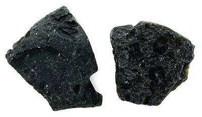 18.95 Grams Two Quality Natural Tektite Meteorite Crystal Specimen t1