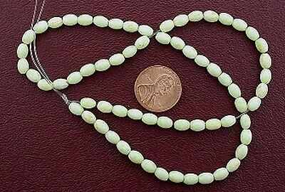 "6x4 Yelllow Howlite Rice Gemstone Gem Beads 15"" Strand"