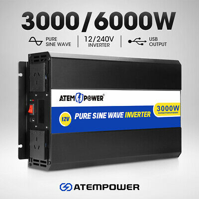 15%OFF 3000W-6000W Pure Sine Wave Power Inverter 12V To 240V Car Caravan Camping