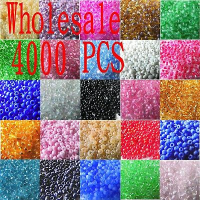 4000 Pcs Wholesale 2mm Czech Glass Seed Spacer Beads Jewel Making DIY Finding