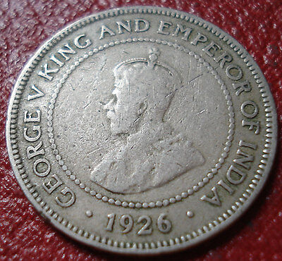 1926 Jamaica 1/2 Penny In Good-Vg Condition