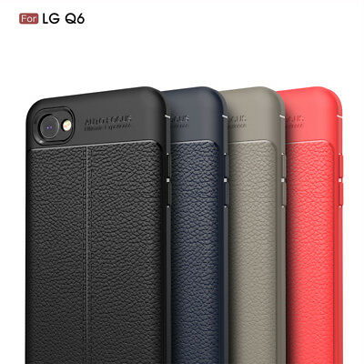 For LG Q6 Luxury Leather Soft TPU Case Shockproof Ultra-Thin Back Cover