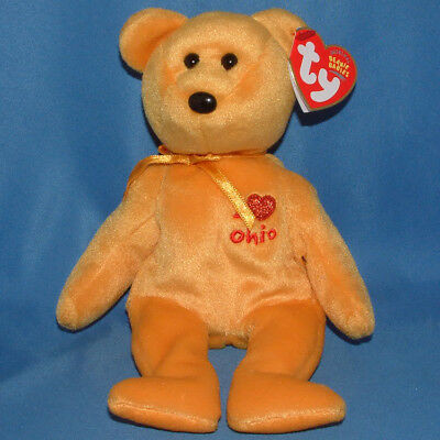 Ty Beanie Baby Ohio I love - MWMT (Bear State Exclusive)