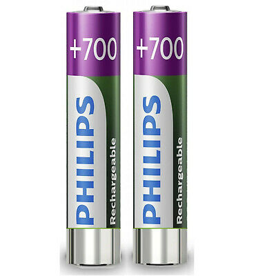 2 x AAA Rechargeable  Phillips SBC HB700S batteries Cordless phone 700mAh NiMh