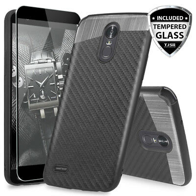 For LG Stylo 3 Plus/Stylo 3 Magnetic Phone Case+Tempered Glass Screen Protector