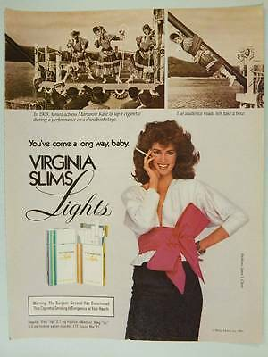 1983 Virginia Slims Cigarettes Vintage Ad Page 80s Fashions Sexy Model Smoking