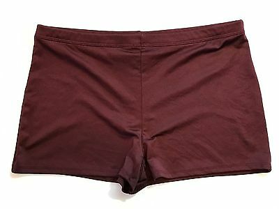 GTM Women's Sportswear Size Large Maroon Spandex Shorts Cheer Dance