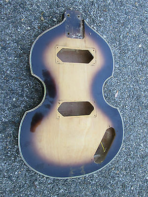 Vintage '60s Teisco Beatle Violin Guitar Bass PROJECT BODY ! JAPAN ! VERY NICE!!