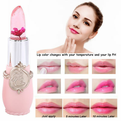 1x Flower Lipstick Color Jelly Transparent Magic Changing Lip Temperature Change