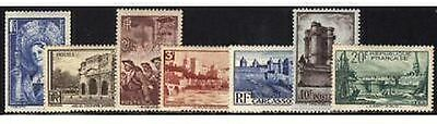 """FRANCE STAMP TIMBRES N° 388 / 394 """" 7 VALEURS """" NEUFS x TB ."""